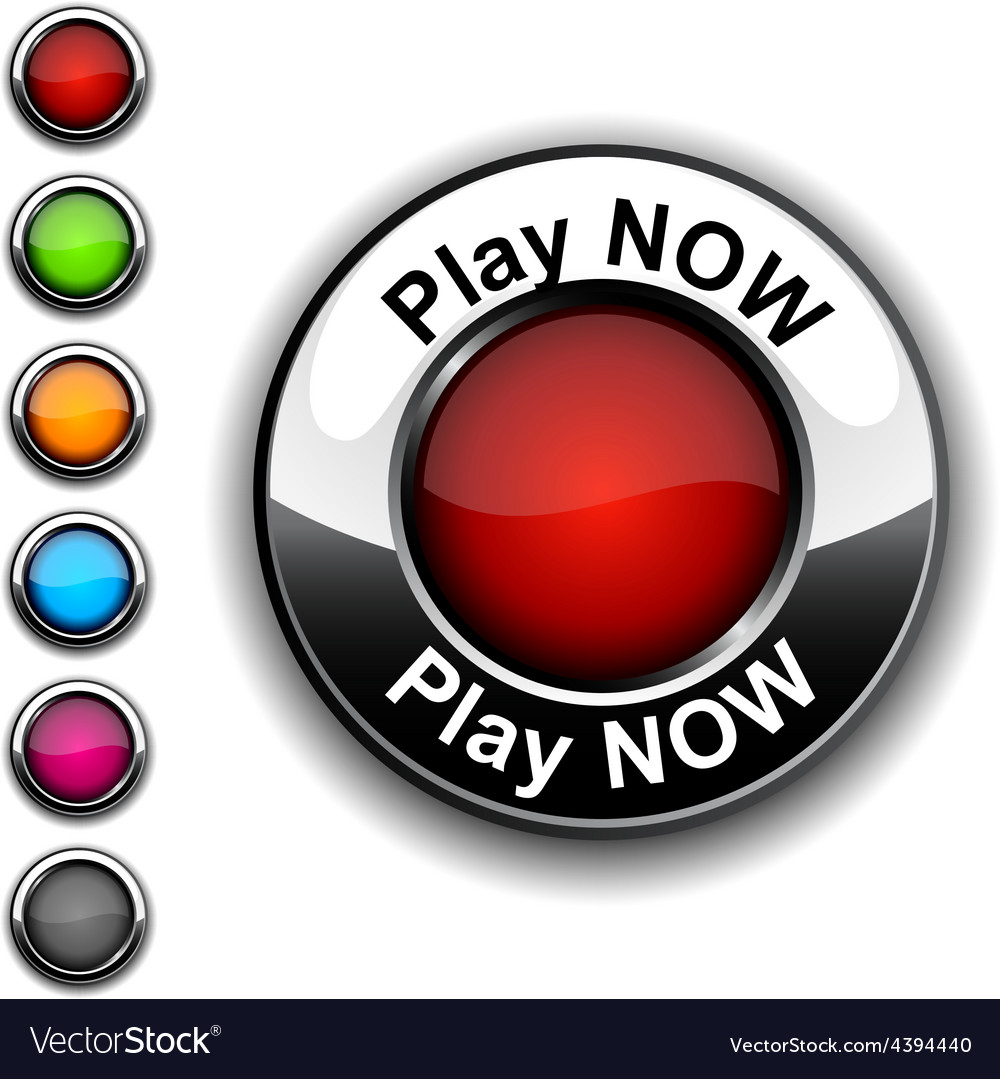 Play now button vector | Price: 1 Credit (USD $1)