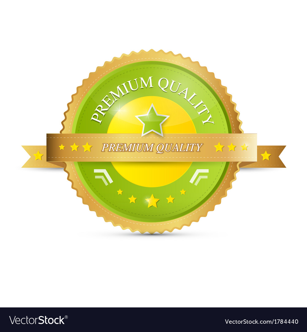 Premium quality green gold label vector | Price: 1 Credit (USD $1)