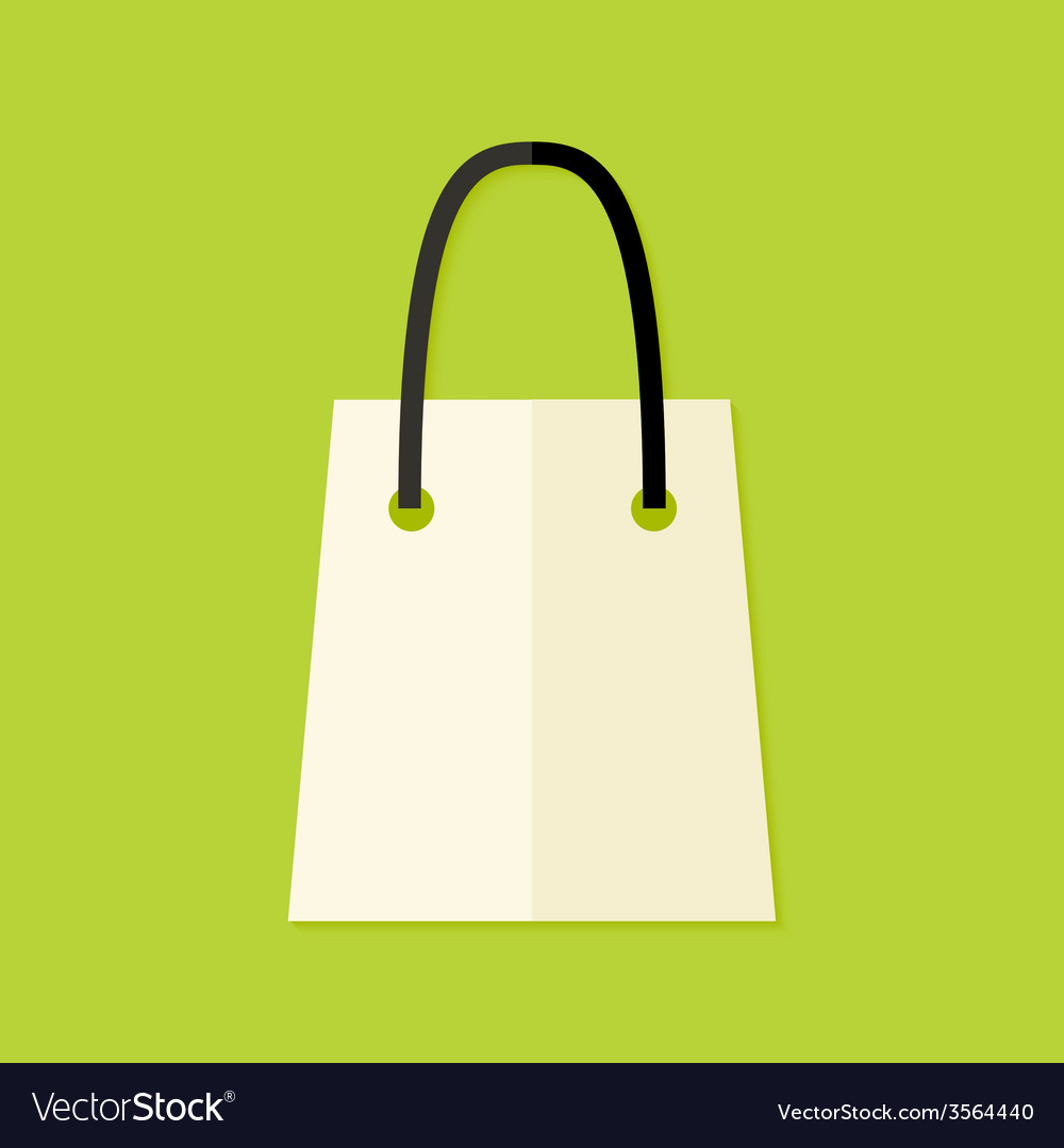 Shopping pack flat icon vector | Price: 1 Credit (USD $1)
