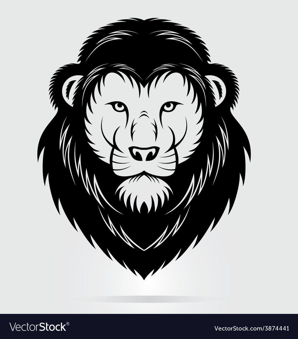 Black lions head mascot vector | Price: 1 Credit (USD $1)