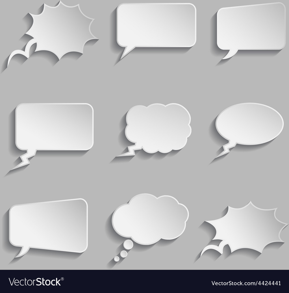 Collection of comic style thought bubbles - 3d vector | Price: 1 Credit (USD $1)