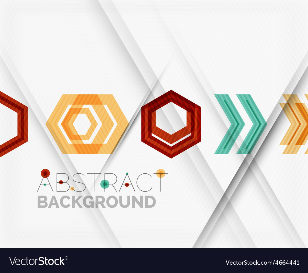 Geometric abstract background arrow design vector | Price: 1 Credit (USD $1)