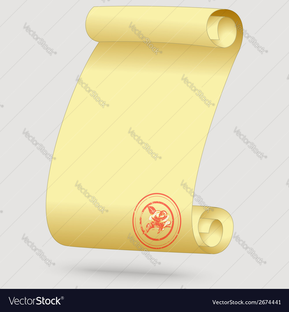 Greeting card in the form of a scroll vector | Price: 1 Credit (USD $1)