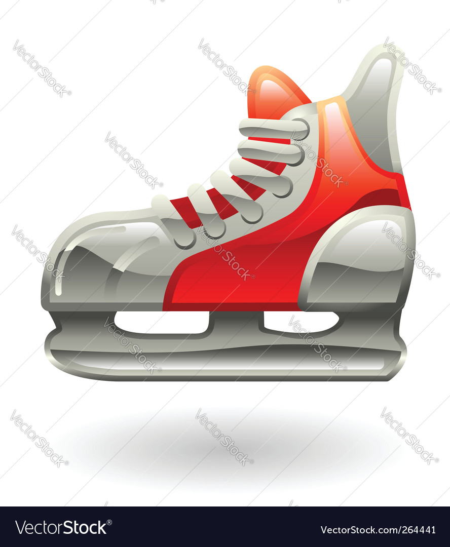 Ice skate illustration vector | Price: 1 Credit (USD $1)