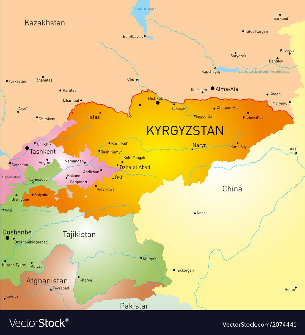 Kyrgyzstan vector | Price: 1 Credit (USD $1)
