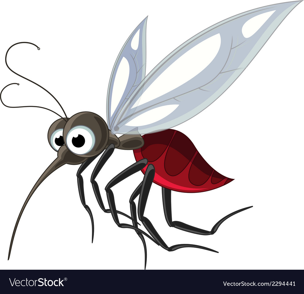 Mosquito cartoon for you design vector | Price: 1 Credit (USD $1)