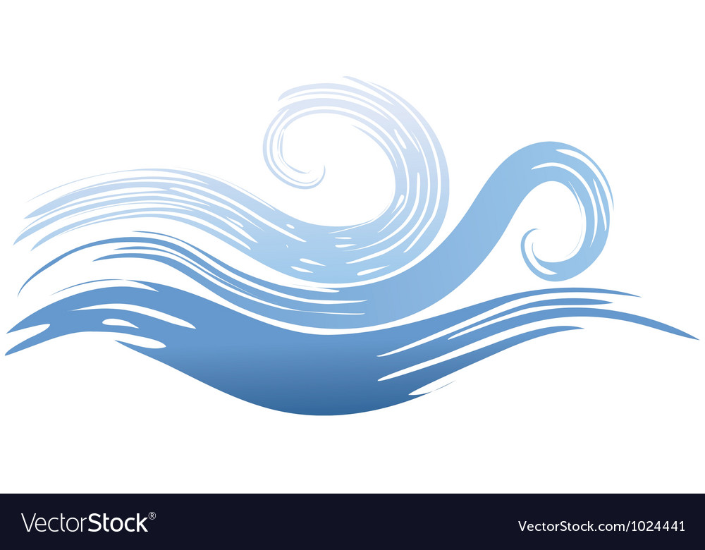 Painted wave vector | Price: 1 Credit (USD $1)