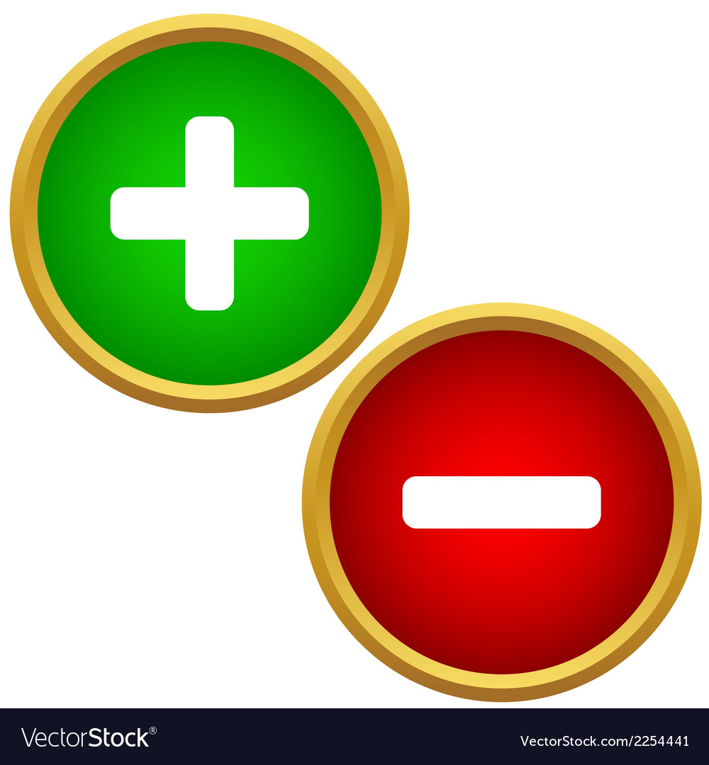 Positive and negative buttons vector | Price: 1 Credit (USD $1)