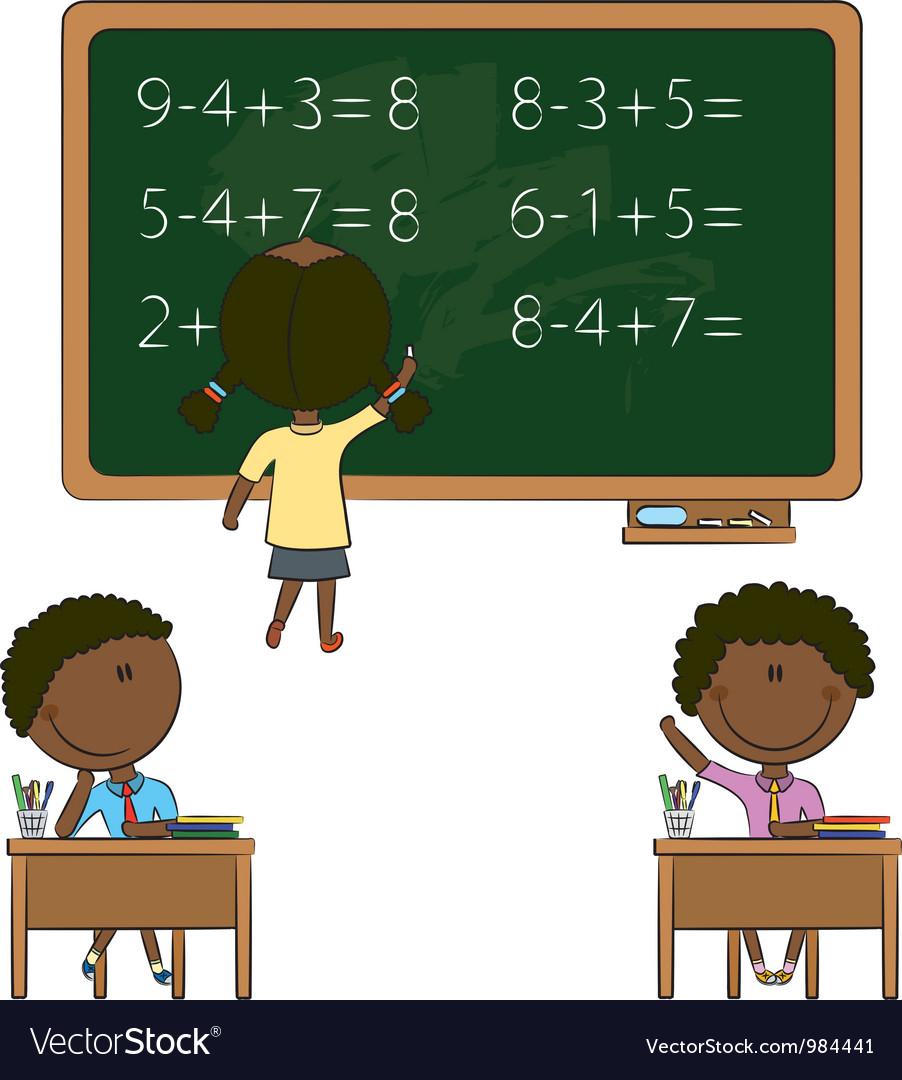 School kids vector | Price: 1 Credit (USD $1)