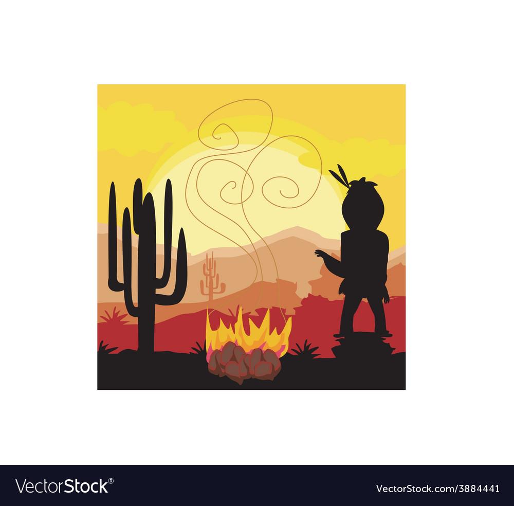 Smoke signals vector | Price: 1 Credit (USD $1)