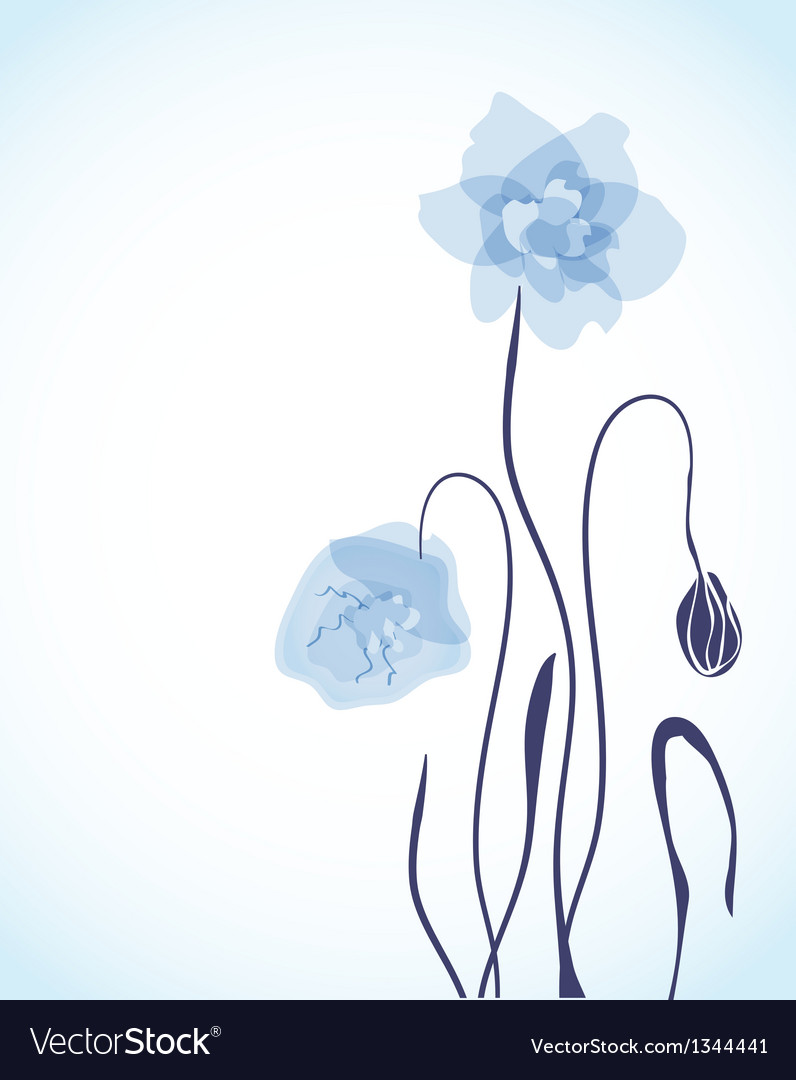 Spring card with beauty poppies vector   Price: 1 Credit (USD $1)