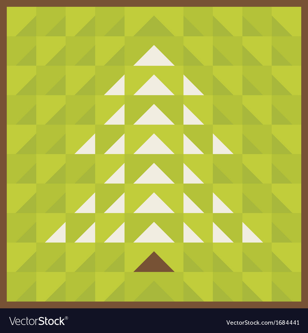 Triangular tree vector | Price: 1 Credit (USD $1)