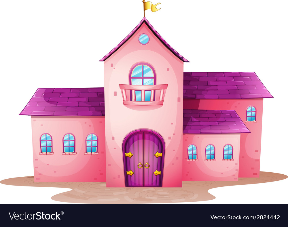A pink castle vector | Price: 1 Credit (USD $1)