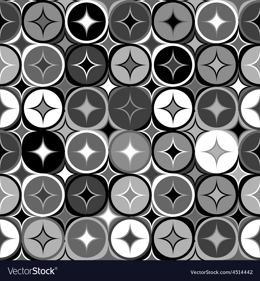 Black and white geometric seamless backgroud vector | Price: 1 Credit (USD $1)
