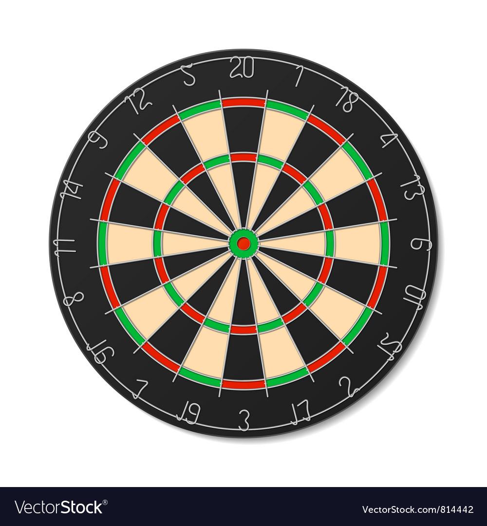 Dartboard vector | Price: 3 Credit (USD $3)