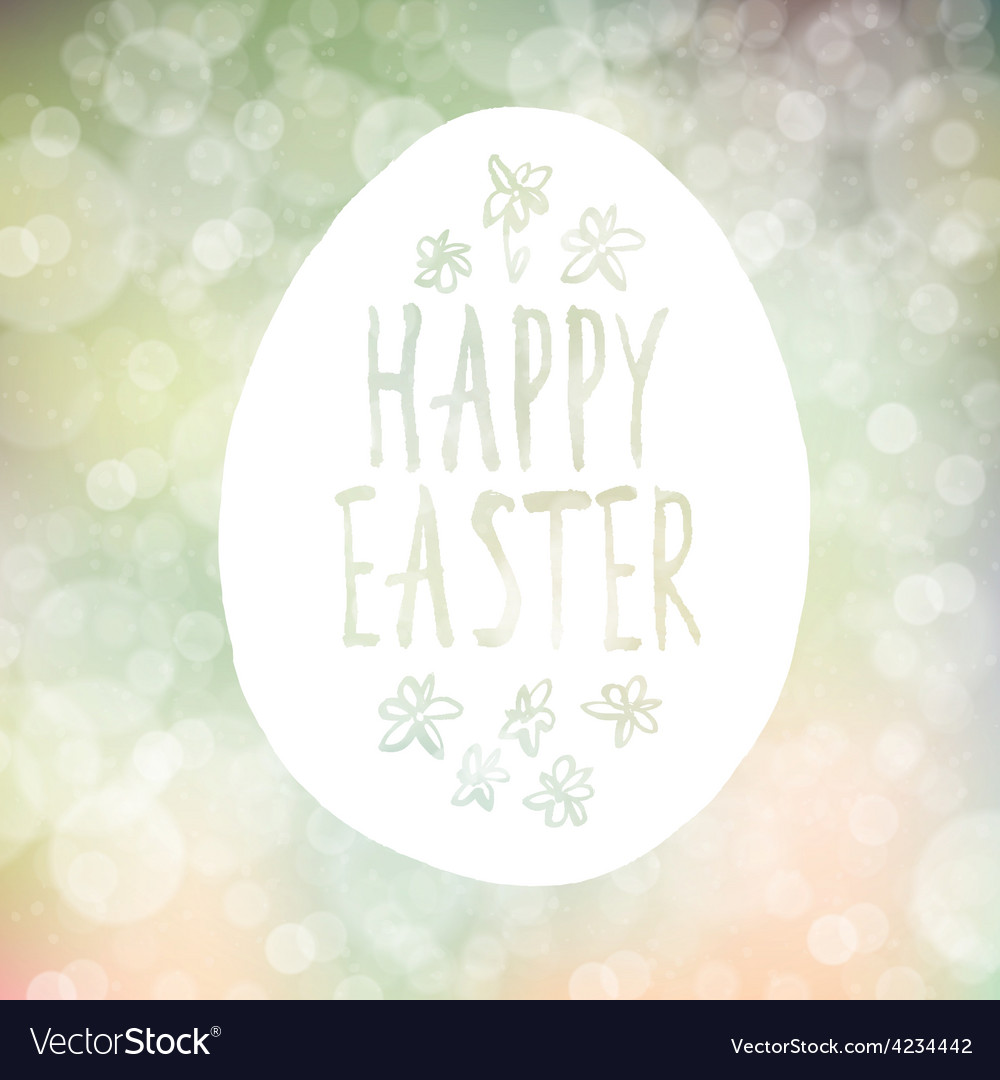 Easter greeting on bokeh background vector | Price: 1 Credit (USD $1)