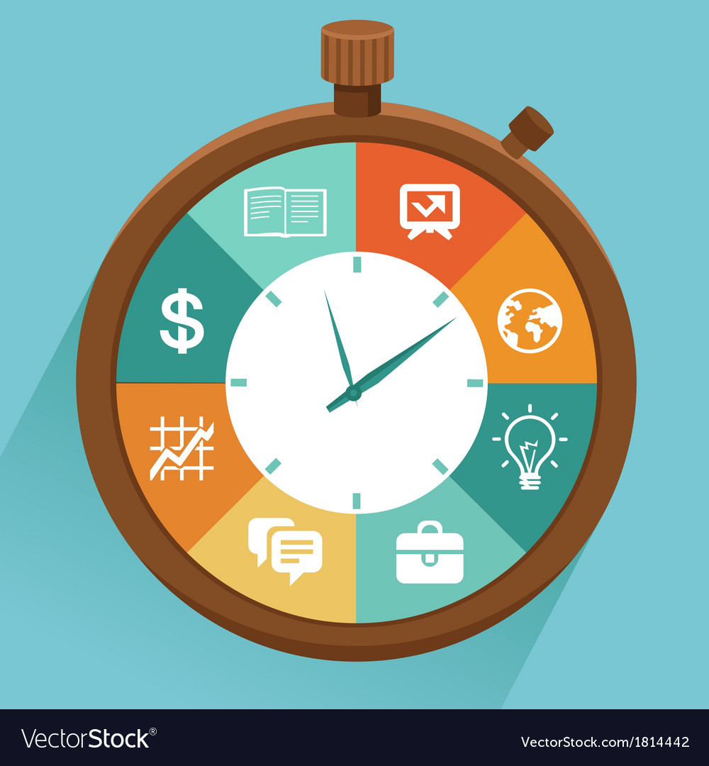Flat concept - time management vector | Price: 1 Credit (USD $1)