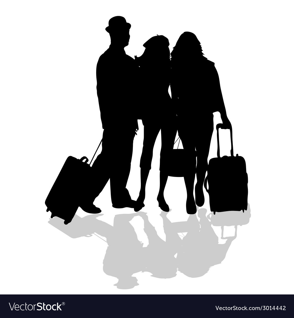 Group is ready to travel vector | Price: 1 Credit (USD $1)