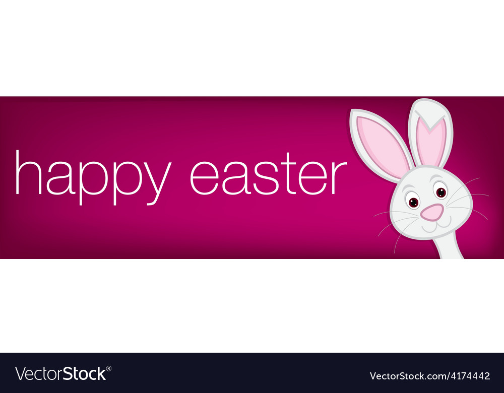 Hiding easter bunny banner in format vector | Price: 1 Credit (USD $1)
