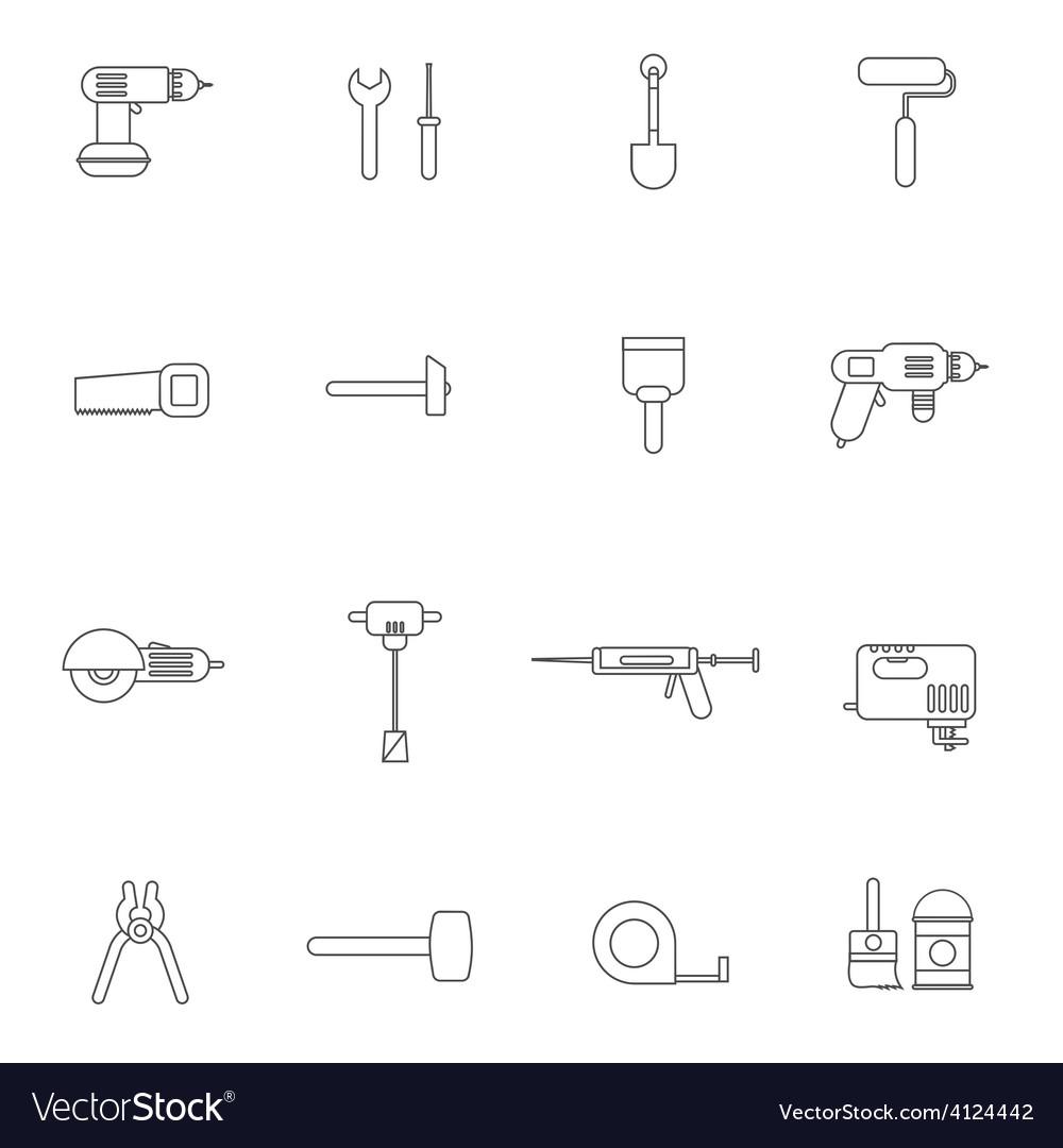 Home repair tools icon flat vector   Price: 1 Credit (USD $1)