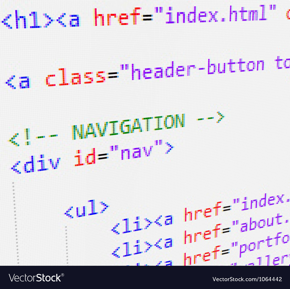 Html code vector | Price: 1 Credit (USD $1)