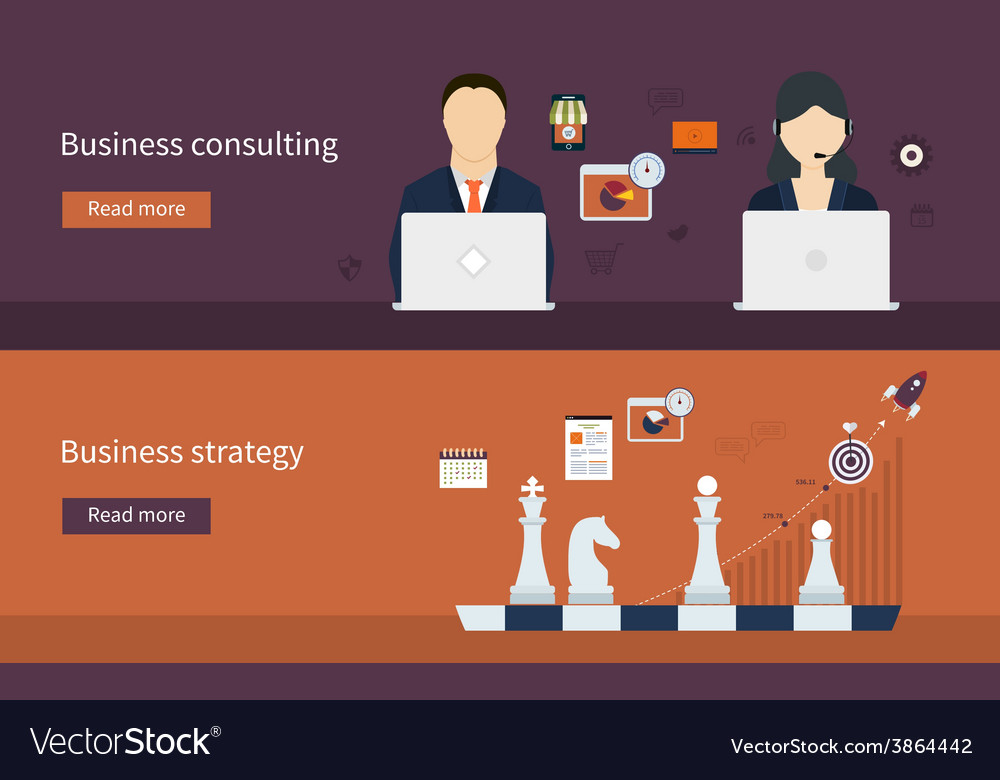 Icons for business strategy vector   Price: 1 Credit (USD $1)