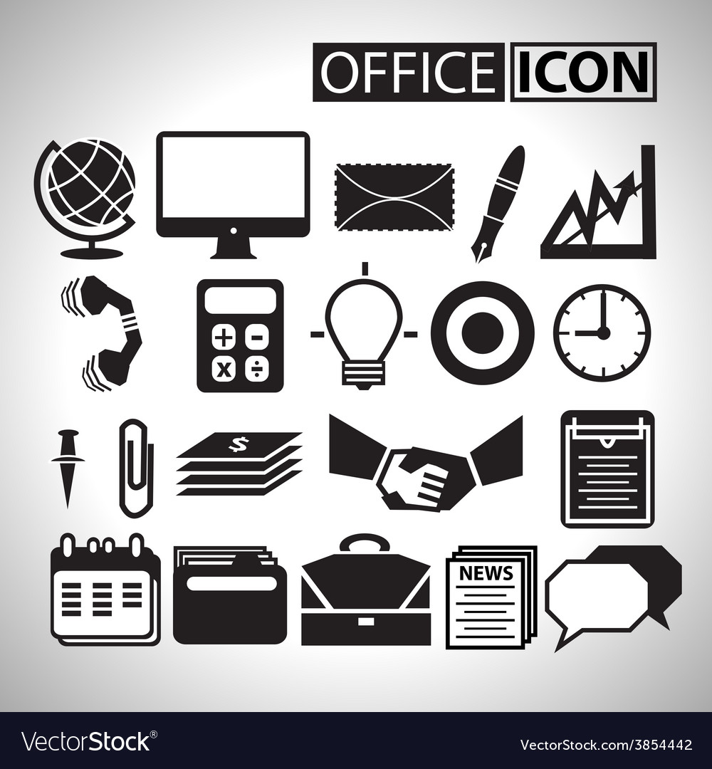Office icon for bussiness vector | Price: 1 Credit (USD $1)