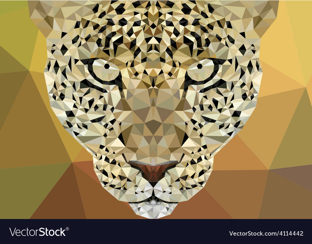 Polygonal leopard design vector | Price: 1 Credit (USD $1)