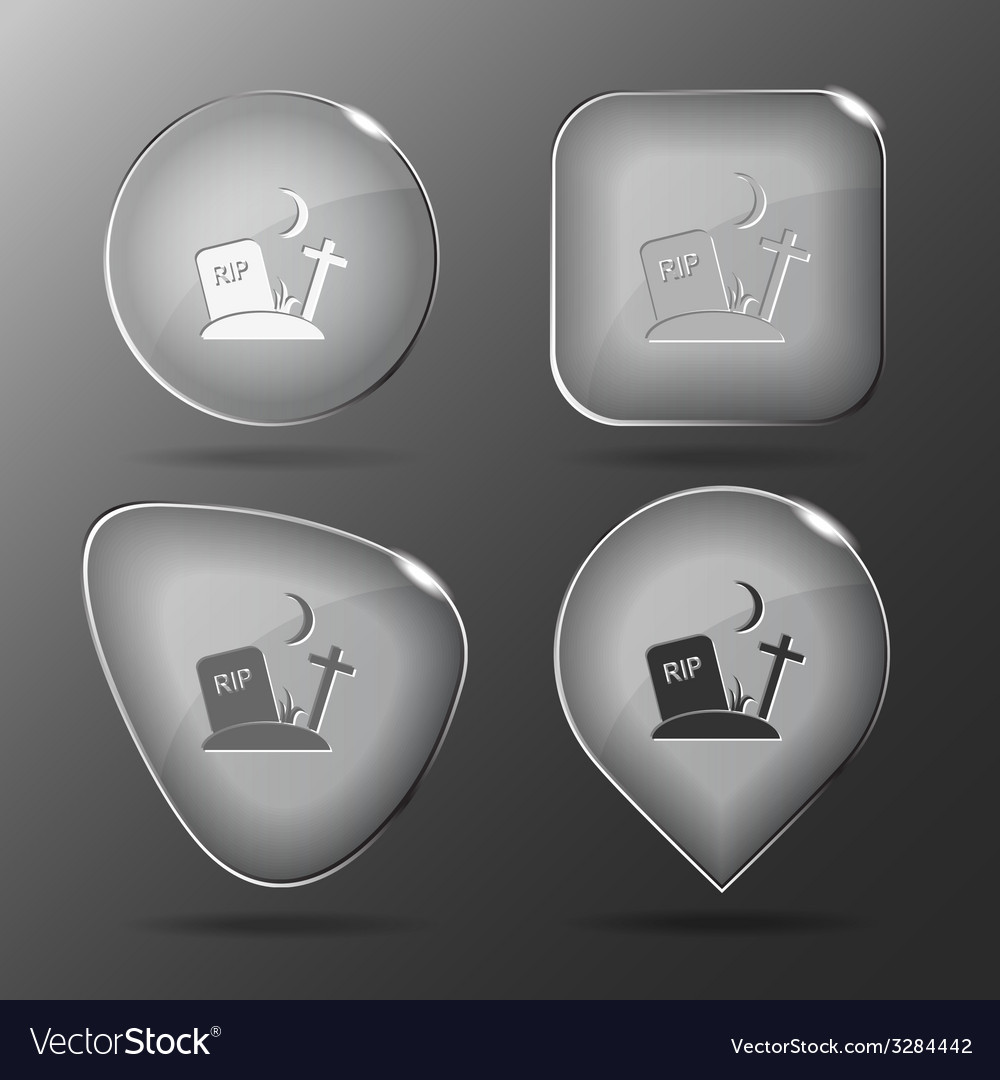 Rip glass buttons vector | Price: 1 Credit (USD $1)
