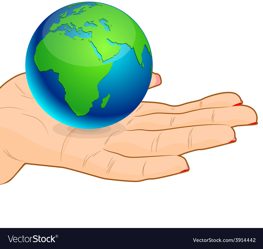 Save earth - africa vector | Price: 1 Credit (USD $1)