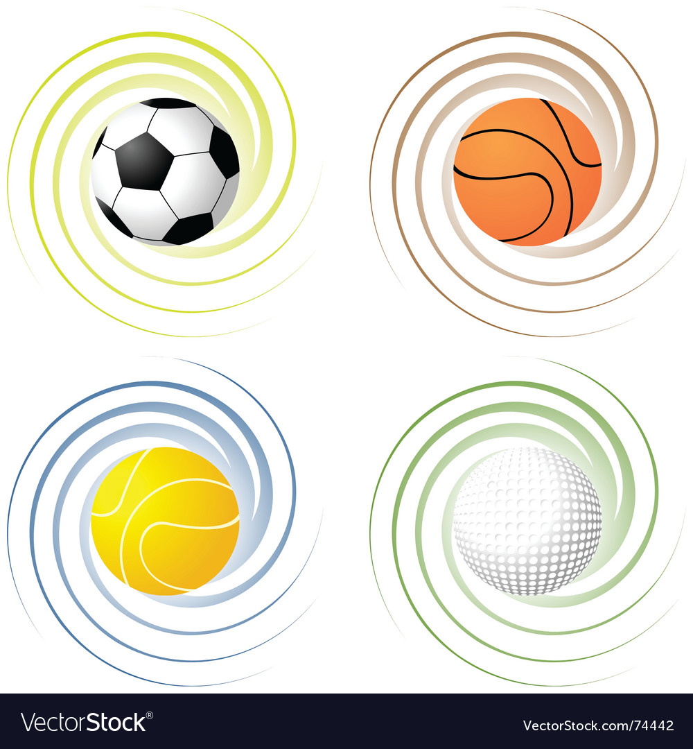 Twisted sport balls vector | Price: 1 Credit (USD $1)