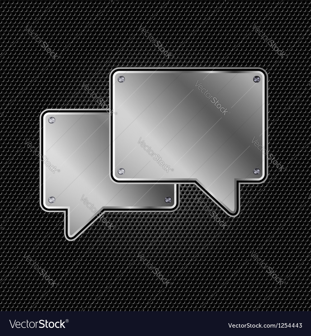 Abstract metal speech buble vector | Price: 1 Credit (USD $1)