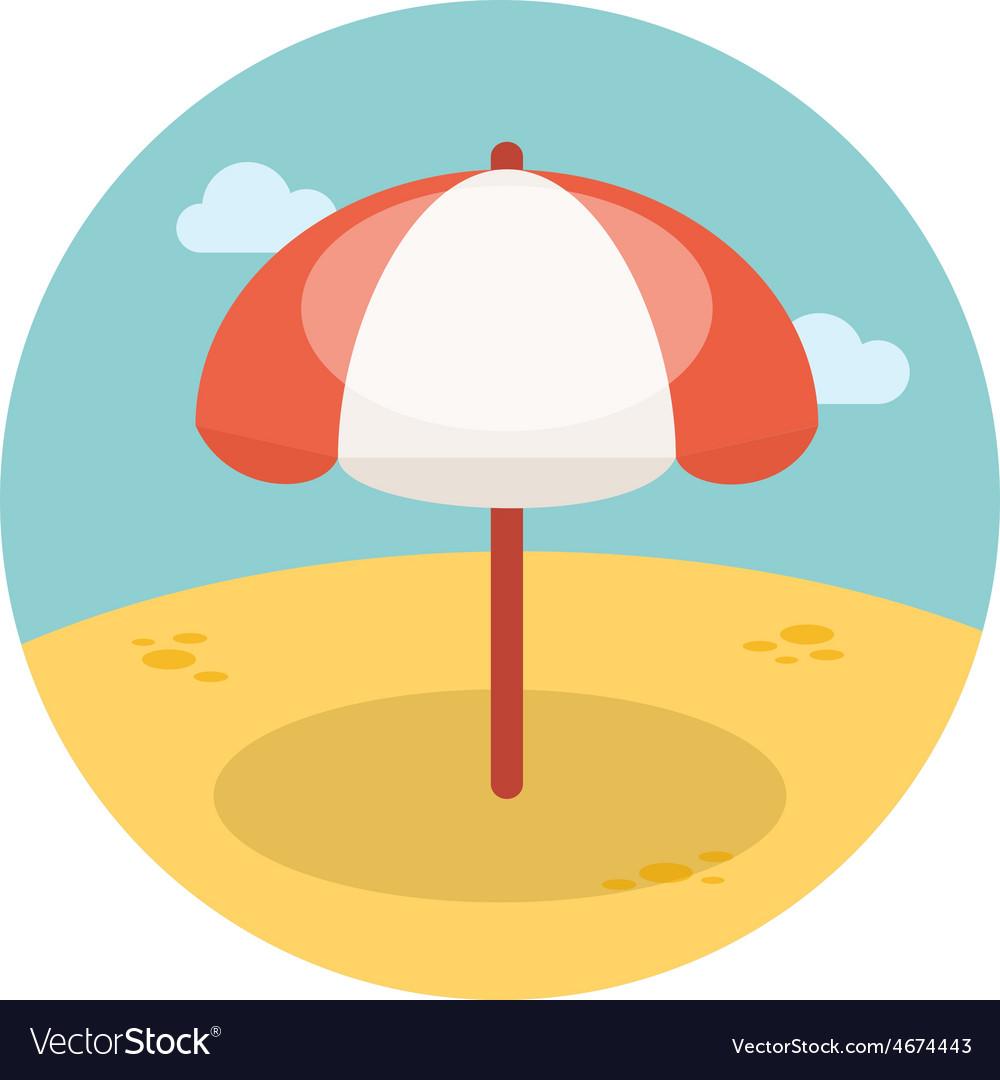 Beach parasol flat icon vector | Price: 1 Credit (USD $1)