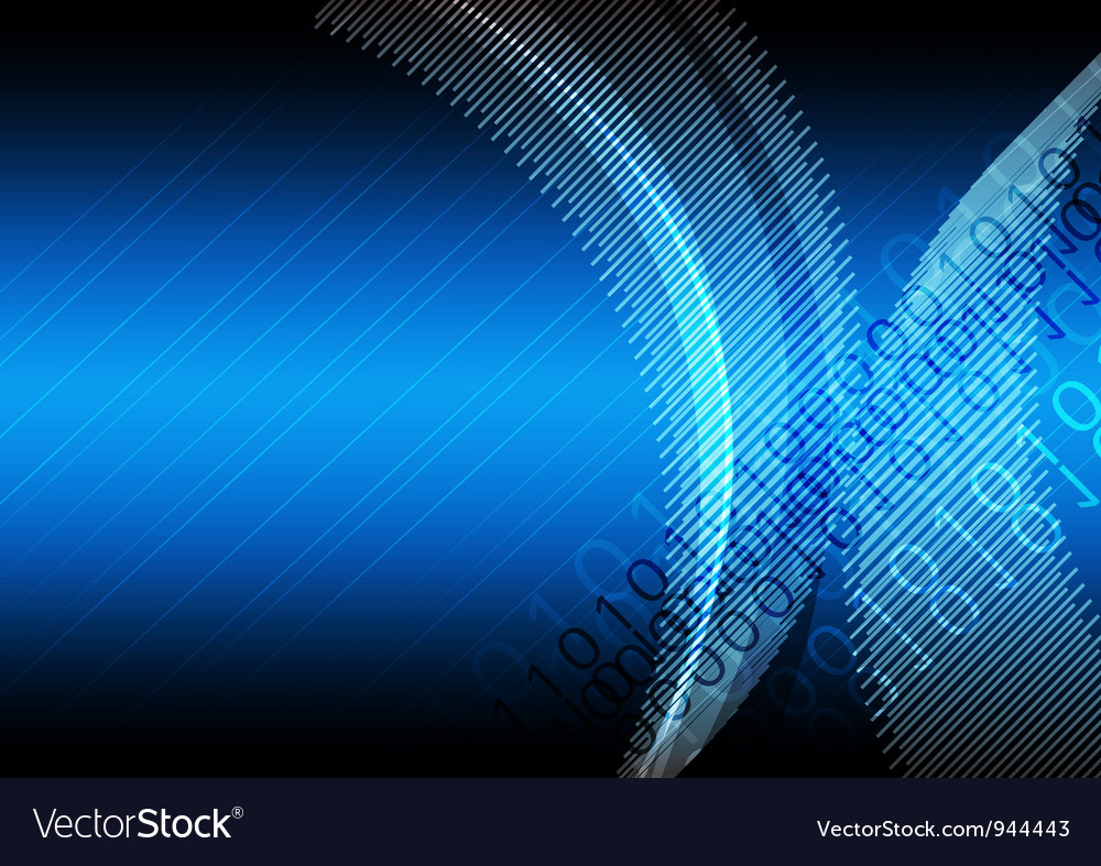 Blue abstract digital background vector | Price: 1 Credit (USD $1)