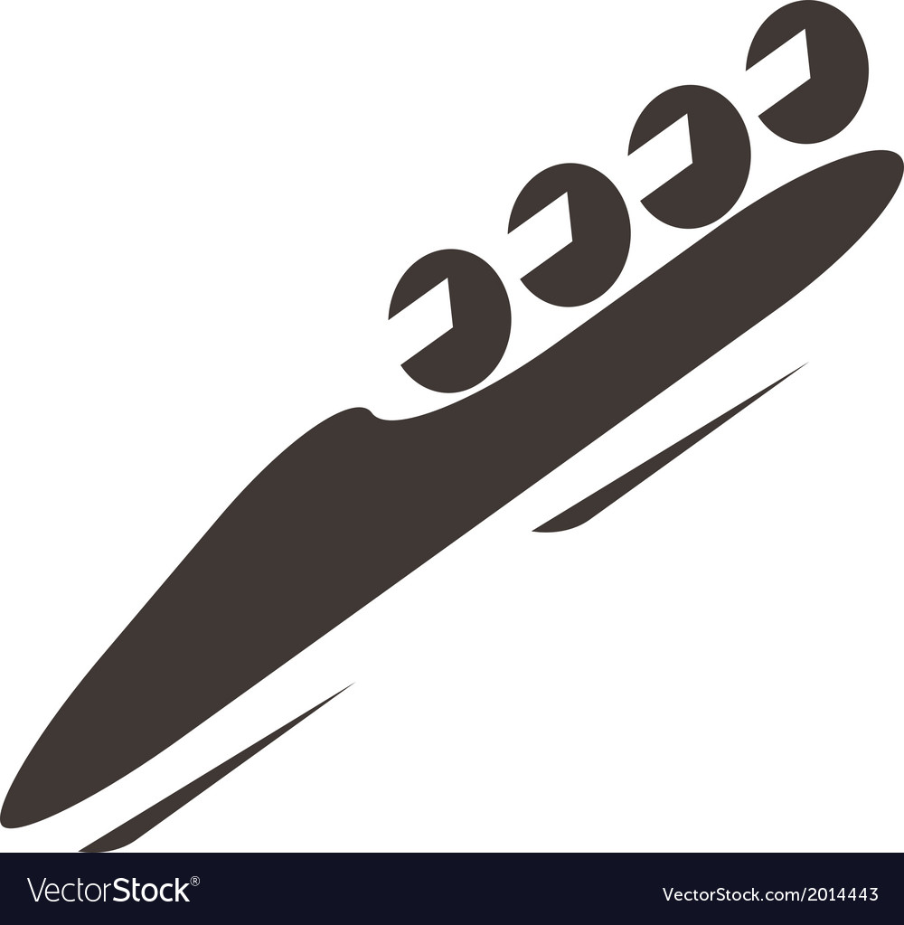 Bobsled icon vector | Price: 1 Credit (USD $1)