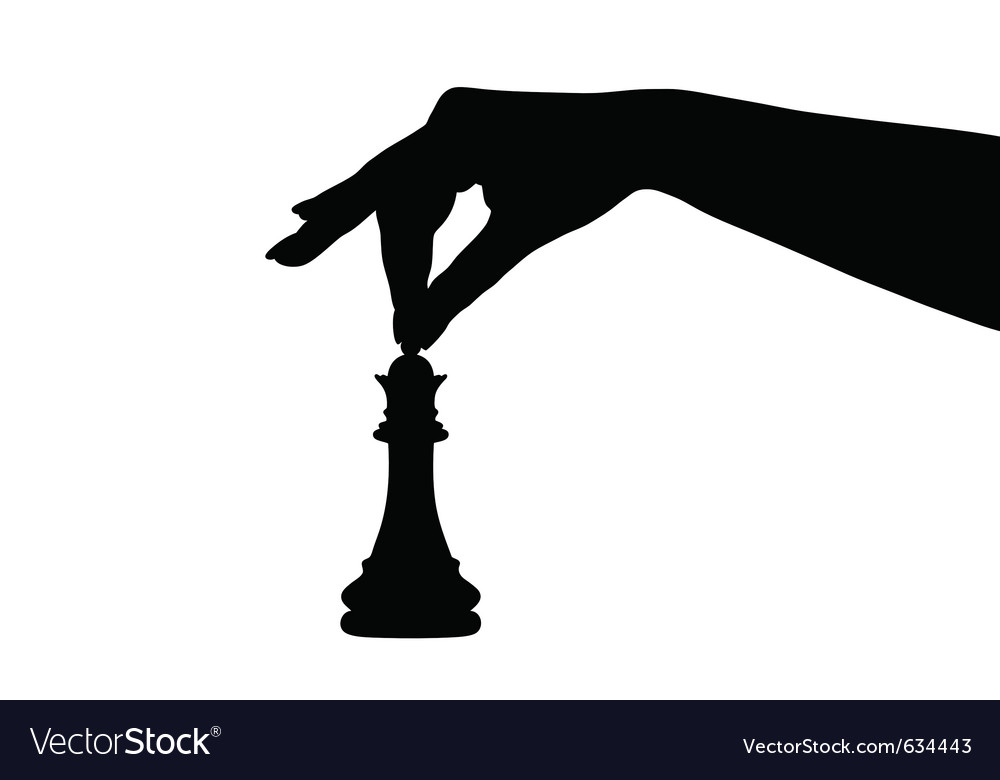Chess piece silhouette vector | Price: 1 Credit (USD $1)