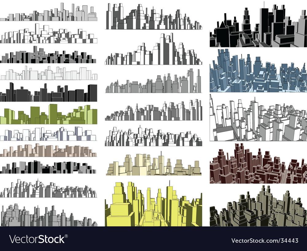 City skylines vector | Price: 1 Credit (USD $1)