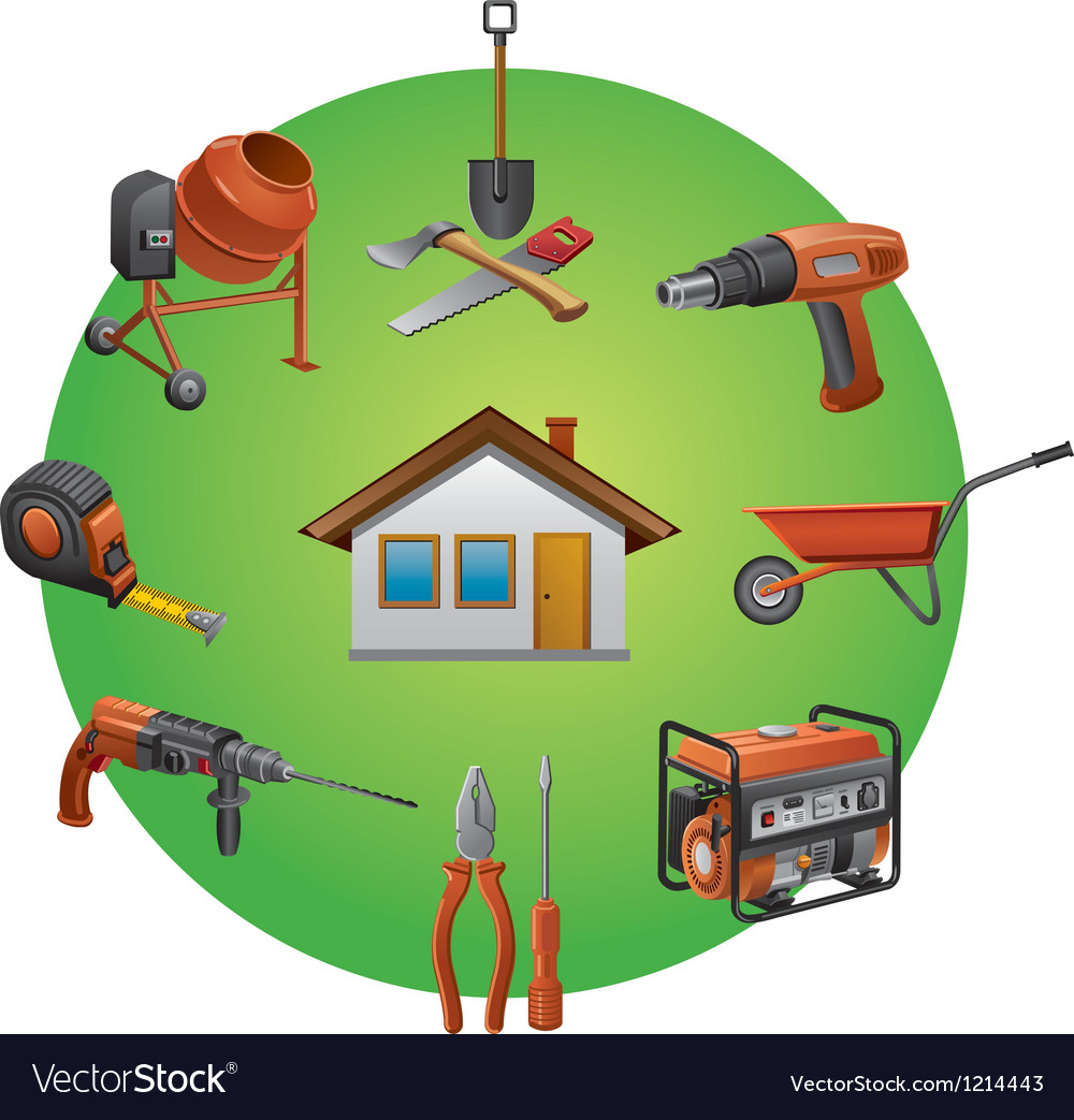 Construction tools icon vector | Price: 1 Credit (USD $1)