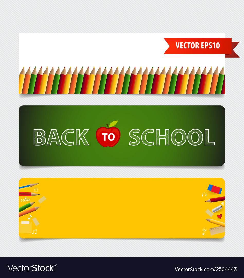 Cute note papers welcome back to school vector | Price: 1 Credit (USD $1)