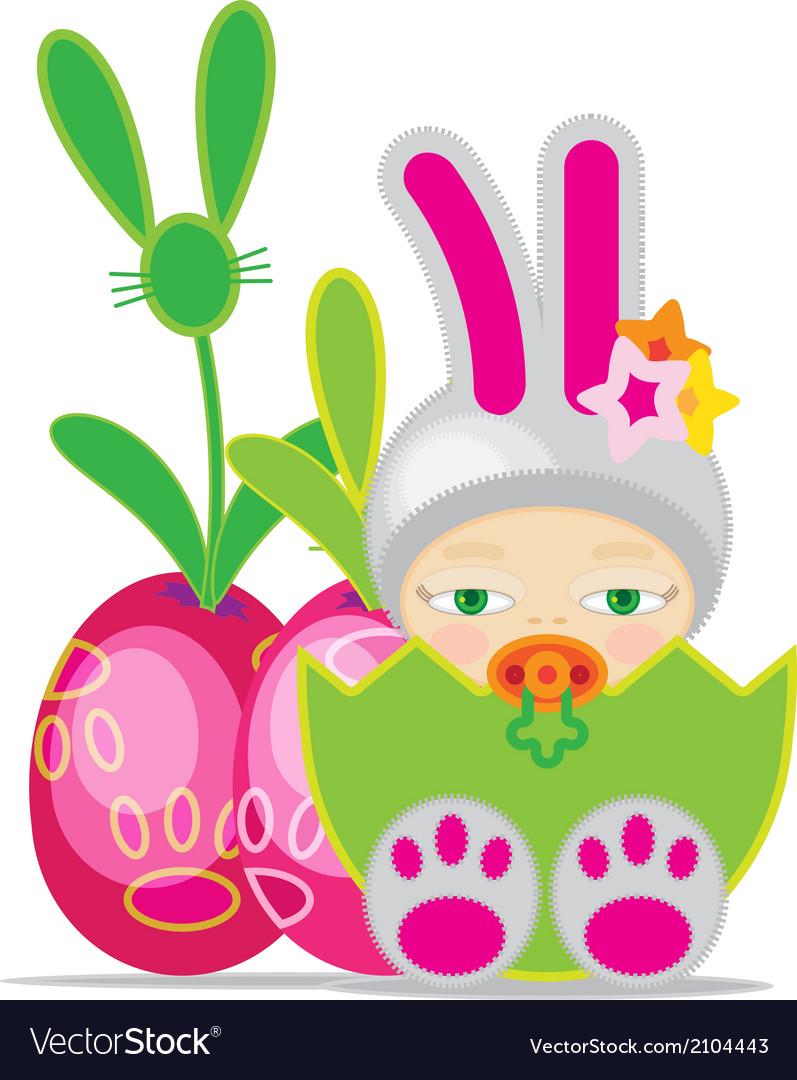 Easter baby gbunn2 vector | Price: 1 Credit (USD $1)