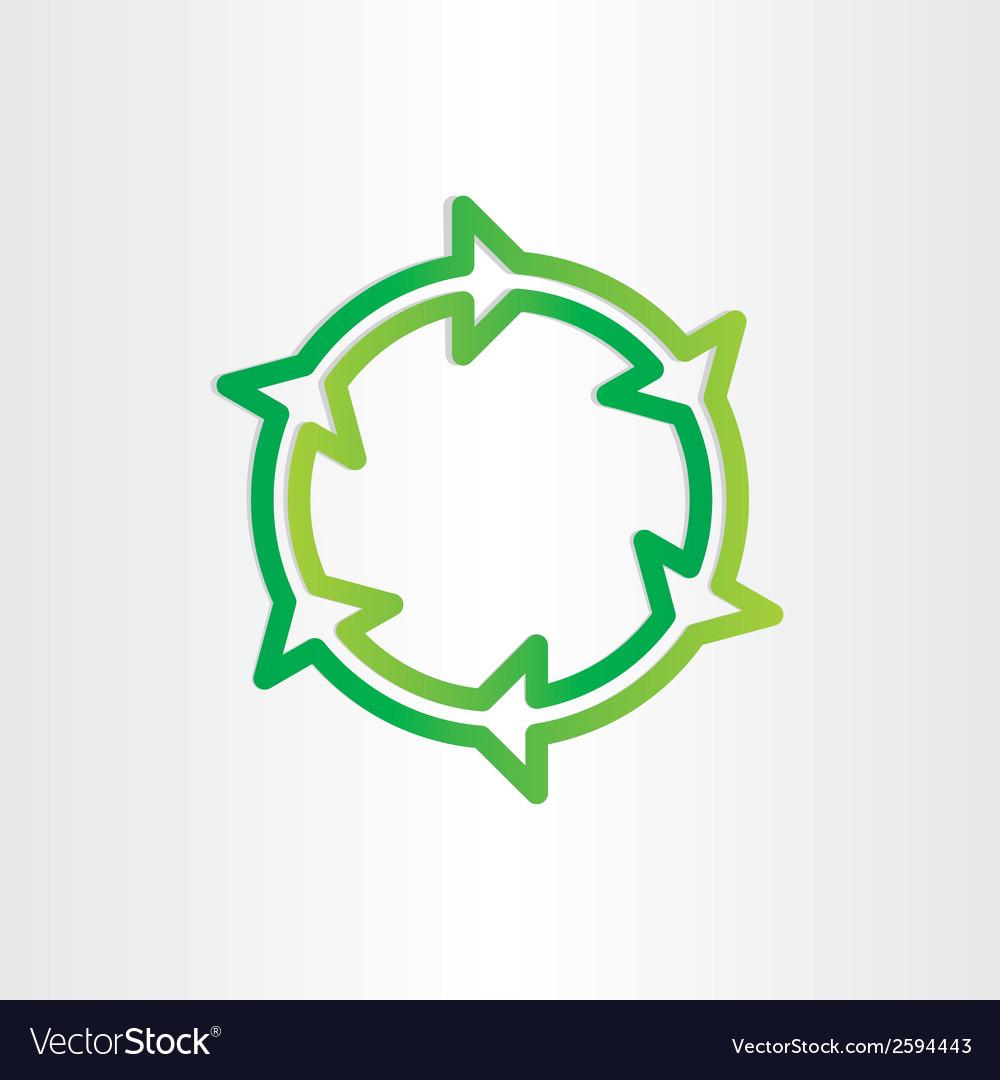 Eco recycle green symbol vector | Price: 1 Credit (USD $1)