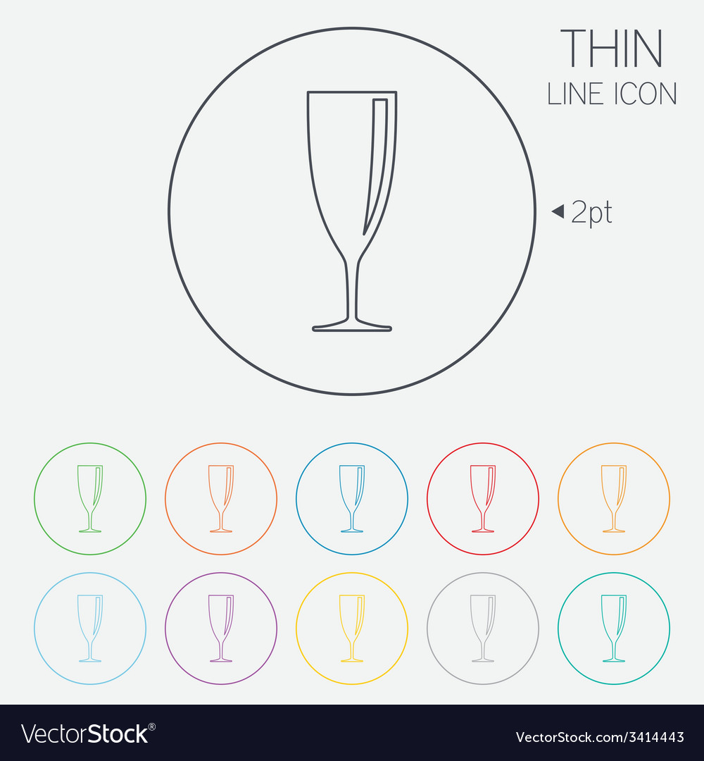 Glass of champagne sign icon alcohol drink vector | Price: 1 Credit (USD $1)