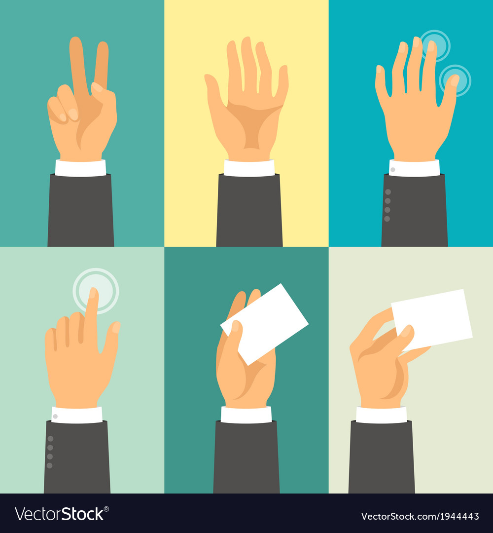 Hands in flat design style vector | Price: 1 Credit (USD $1)