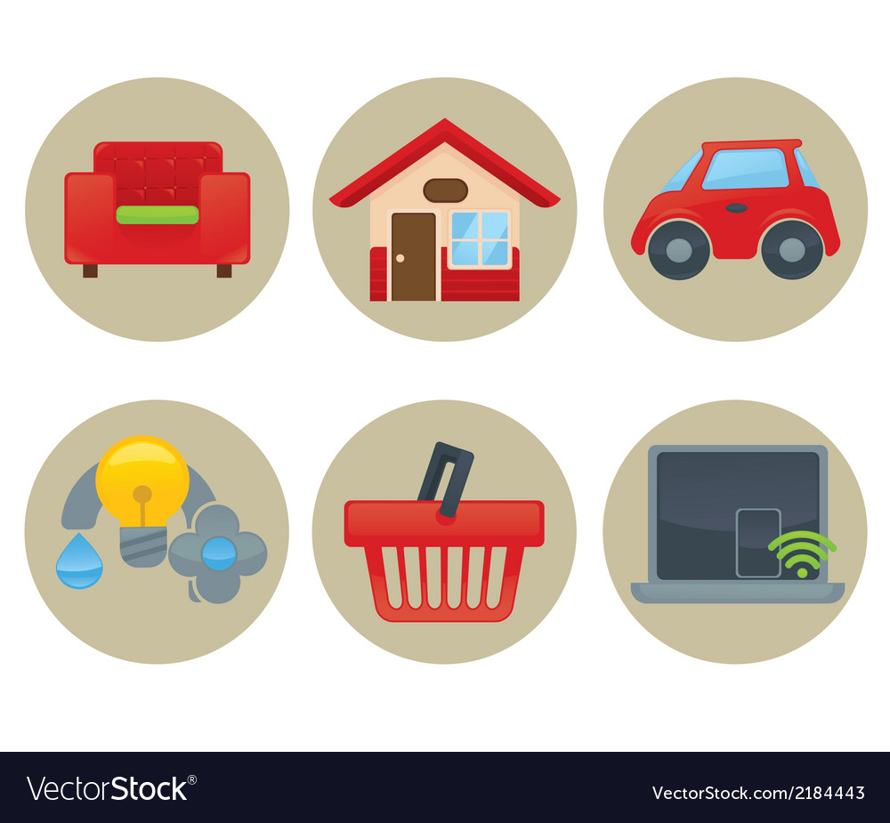 Home icons collection vector | Price: 1 Credit (USD $1)