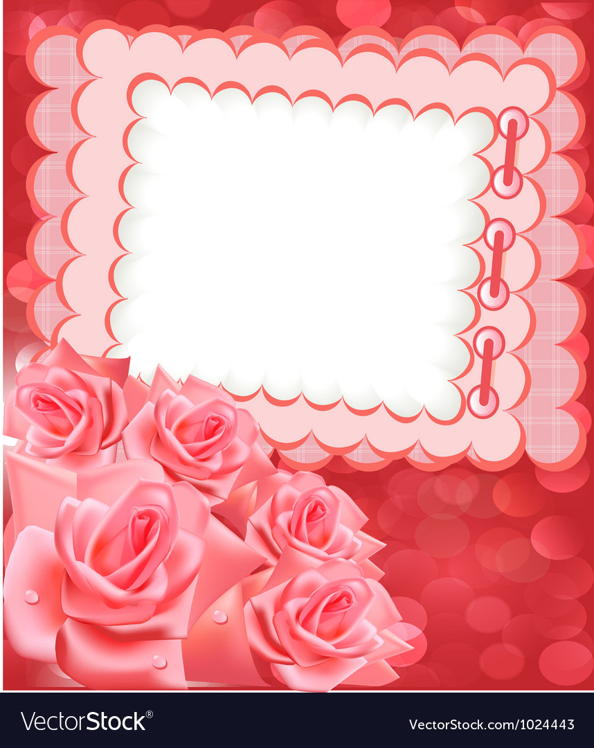 Rose photo frame vector | Price: 1 Credit (USD $1)