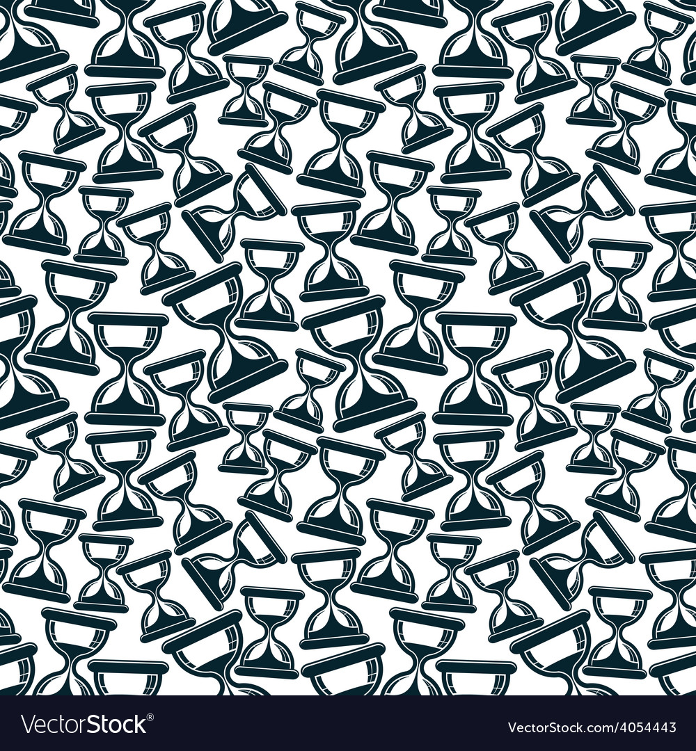 Seamless background with classic sand-glasses vector | Price: 1 Credit (USD $1)