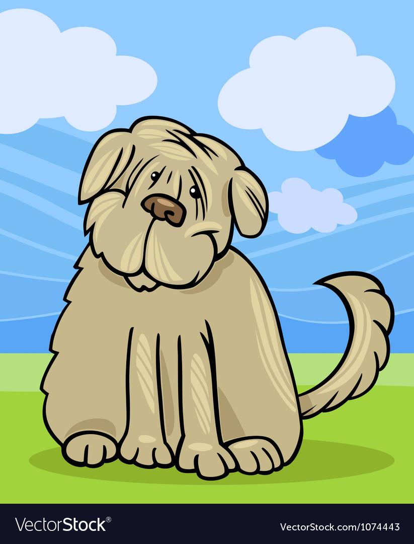 Shaggy terrier dog cartoon vector | Price: 1 Credit (USD $1)