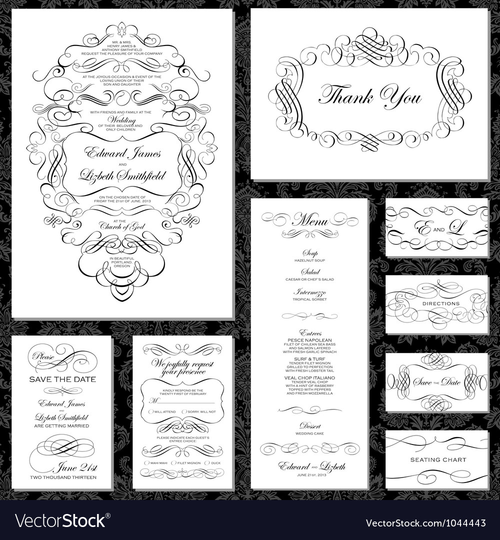Vintage documents or invitation vector   Price: 1 Credit (USD $1)