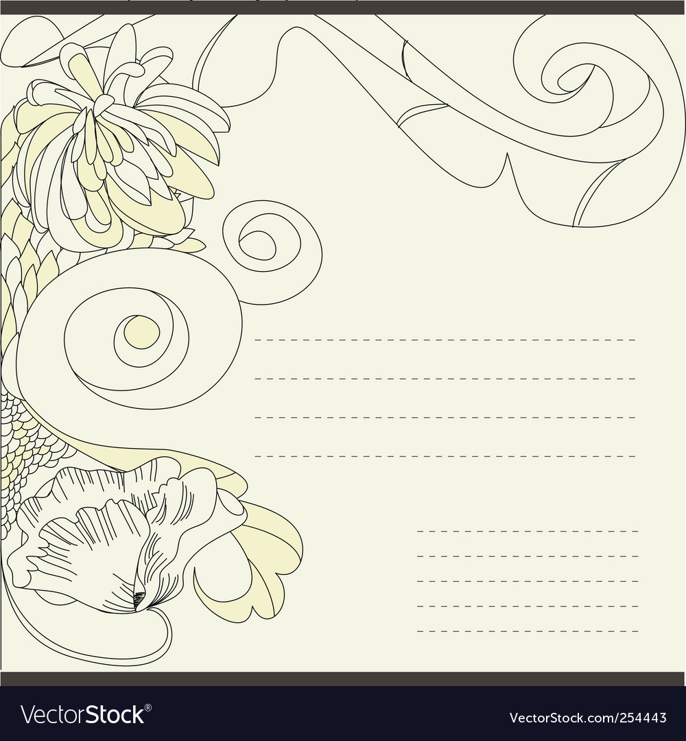 Vintage template for note paper vector | Price: 1 Credit (USD $1)