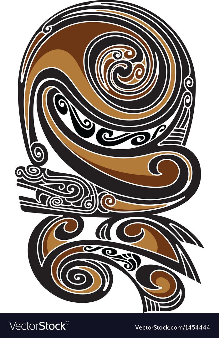 Borneo tattoo pattern vector | Price: 1 Credit (USD $1)